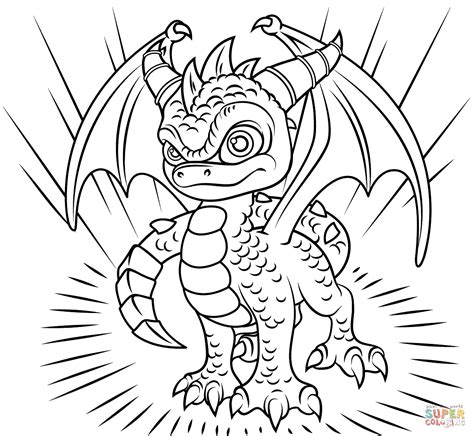 coloring pages of spyro the dragon skylanders spyro coloring page free printable coloring pages
