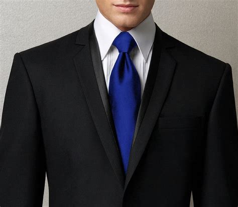 Acsesoris Pengantin L075 royal blue tie w black suit wedding ideas