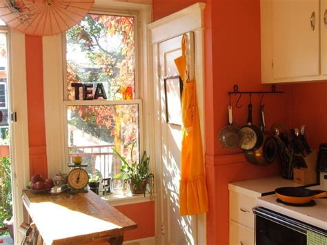 coral kitchen coral colors kitchen decorating idea