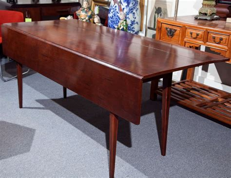 cherry wood dining table with drop leaf image 3