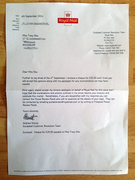 Report Lost Letter Royal Mail The Royal Mail Dangerous Driving