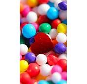 Colorful Marbles Red Heart IPhone 6 Plus HD Wallpaper