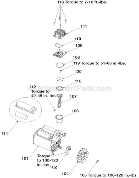 porter cable cpfp parts list  diagram type