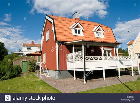 sweden buy house typical red swedish house houses home homes traditional timber wood stock photo