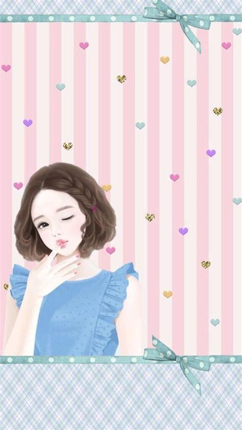 wallpaper cantik kartun korea enakei coleksi kartun cantik lucu pinterest china girl