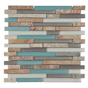 Brown And Aqua Bathroom Accessories by Glass Stone Mix Decoratives Floor Amp Decor