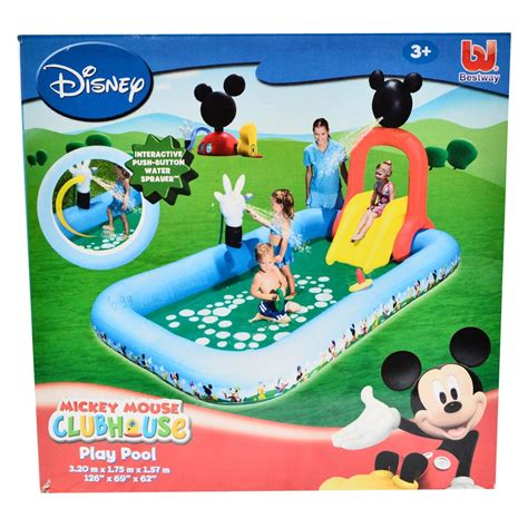 Mainan Kolam Water Sl83118 jual kolam renang anak 320 cm besar mickey mouse mainan perosotan pancuran grosir tv