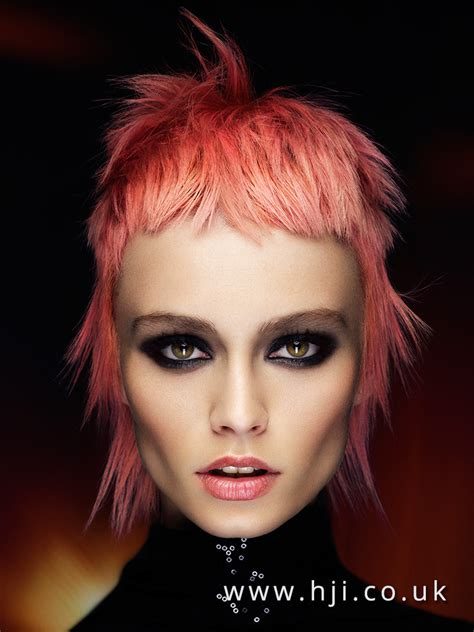 ladies choppy hairstyles with a fringe 2016 textured pastel pink mullet with choppy fringe