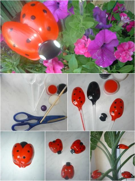 Ladybug Garden Decoration Juego by Recycling Craft Adorable Ladybugs Made From Plastic