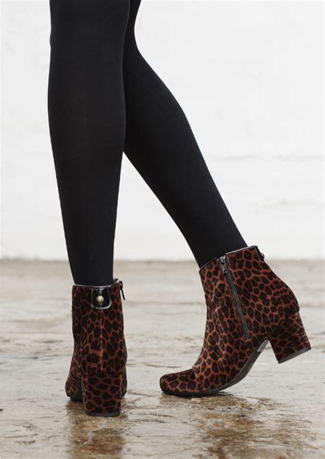 Boot Maroon Leopard hudson garnett velvet boots leopard