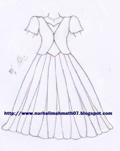 desain gaun sketsa kelopak mata sketsa gaun pengantin