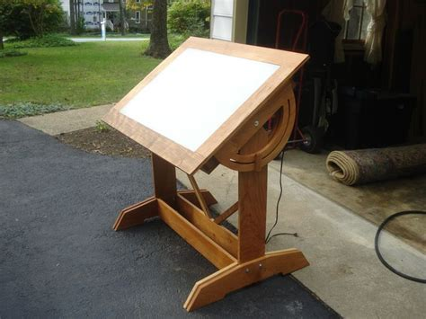 Wood Drafting Table Plans Drawing Light Table Plans Woodworking Projects Plans