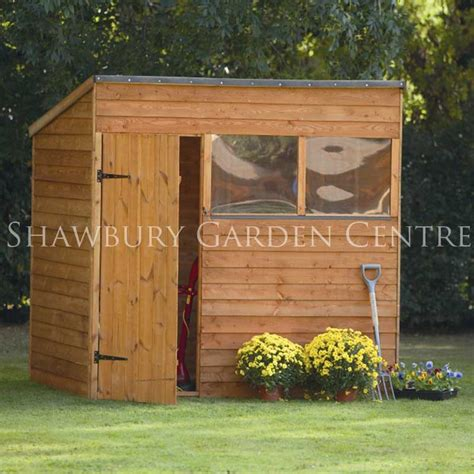 7 X 5 Garden Sheds by Forest Garden 7 X 5 Overlap Pent Shed Inc Assembly