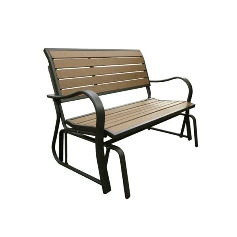 lifetime benches lifetime faux wood glider bench 60055