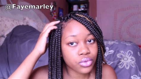 how to care for box braids with loose ends how to take care of your box braids youtube