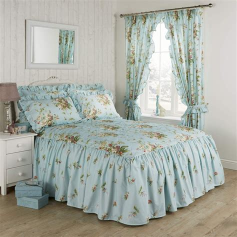 Duck Egg Quilted Bedspread by Vantona Country Madeleine Quilted Fitted Bedspread Duck