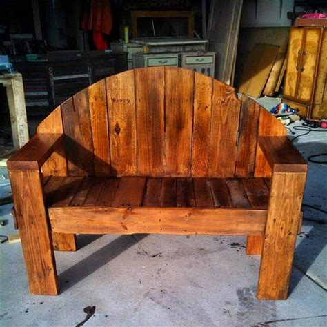 how to make a bench out of wood pallets outdoor pallet bench designs