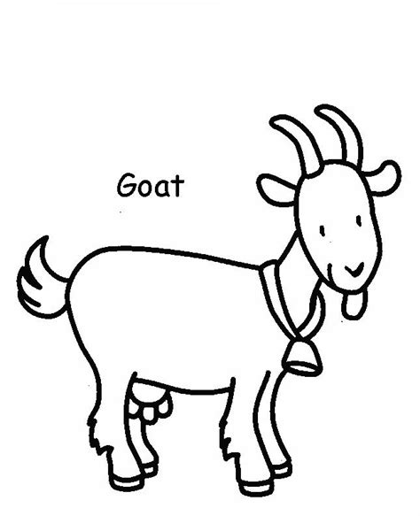 cartoon goat coloring page mi cuadernillo de ingl 233 s animales dom 233 sticos para colorear