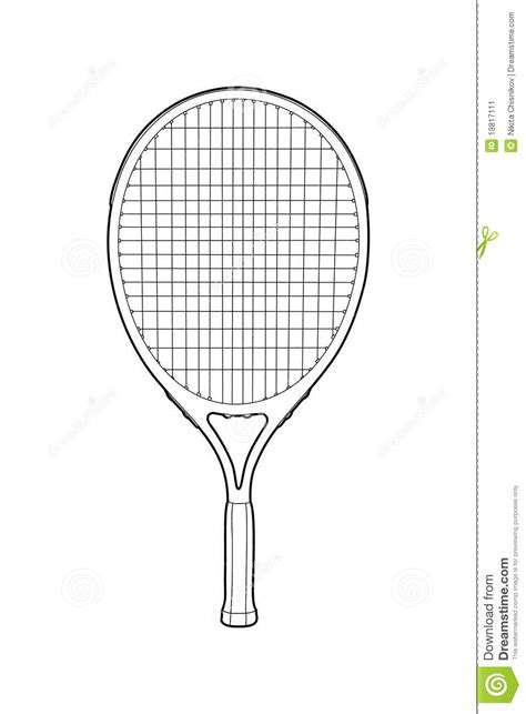 Racket Outline by Tennis Racket Stock Vector Image Of Match Equipment 19817111