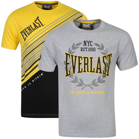 everlast s 2 pack t shirts yellow black grey marl sports leisure zavvi