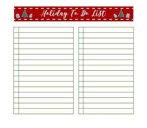free printable holiday to do list get organized for christmas with free printable holiday