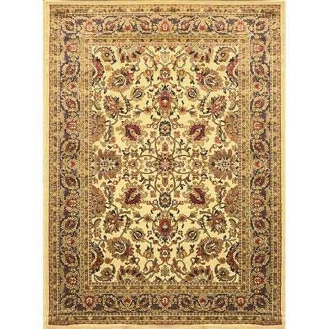 home dynamix royalty rug home dynamix royalty ivory 7 ft 8 in x 10 ft 4 in indoor area rug 1 8079 100 the home depot