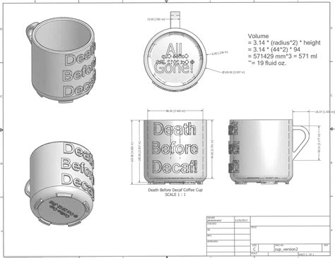 coffee mug design dimensions 3d printed coffee cup design death before decaf