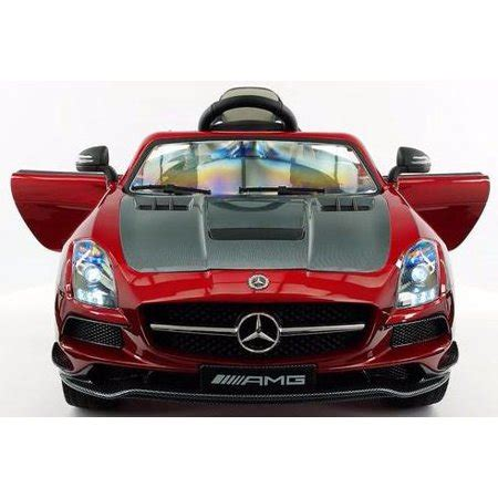 2017 mercedes sls amg 12v carbon red power ride on toy