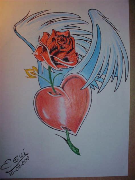 imagenes de corazones con una rosa clavada dibujos chidos de graffitis corazones y amor rosas arte