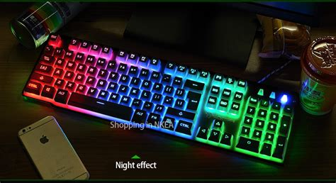 Keyboard Gaming Dota 2 2016 high quality best similar mechanical feel gaming keyboard computer keyboard led backlit for