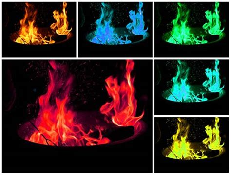 how to make colored flames how to make color mental scoop