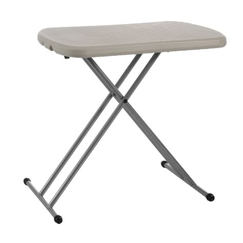 lifetime small folding table lifetime personal folding table almond white officeworks