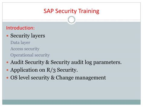 sap tutorial ppt ppt the best sap security online training sap security
