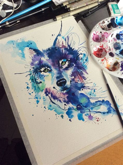 watercolor tattoo facebook watercolor wolf for a artist deborah deh soares