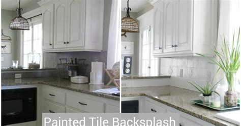 28 i painted our kitchen tile how to paint a tile backsplash a beautiful mess love your i painted our kitchen tile backsplash the wicker house