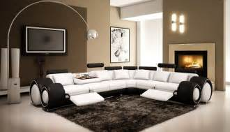 White Leather Sofa Recliner 4087 Black And White Half Leather Sectional Sofa With Recliner Vgev4087 6 Hl 3 180 00