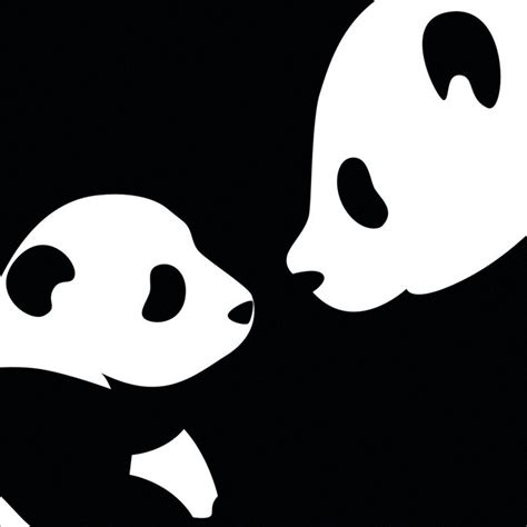 wallpaper black and white panda black background white dots canvas acrylic pinterest