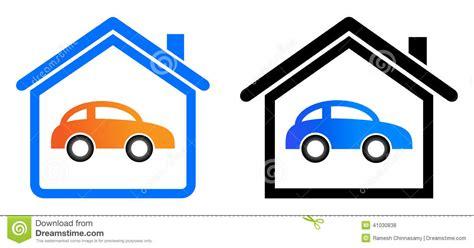 3 Car Garage Home Plans Home Garage Logo Stock Vector Image 41030838