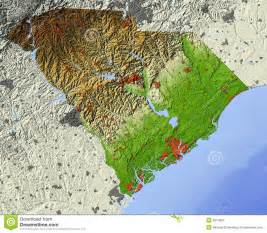carolina relief map south carolina relief map royalty free stock images