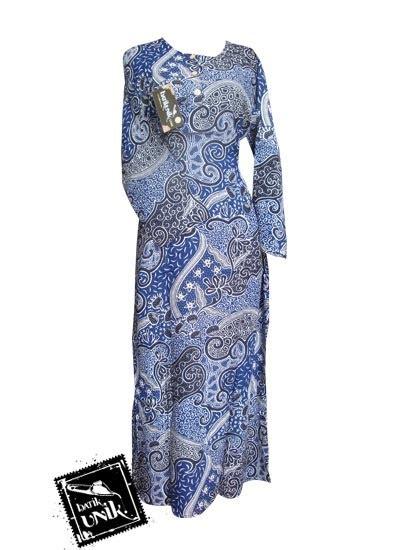 baju batik gamis motif batik etnik daster longdress