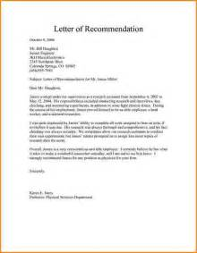 doc 570735 proper recommendation letter format sample