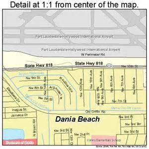 dania florida map dania florida map 1216325