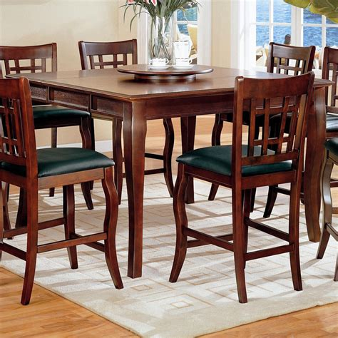 newhouse counter height dining room set with grid back