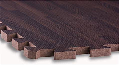 Cherry Wood Grain Floor Mats   Interlocking Puzzle Piece Fit