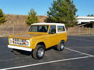 1970s Ford Bronco For Sale 1970 Ford Bronco Gold For Sale On Craigslist Used Cars