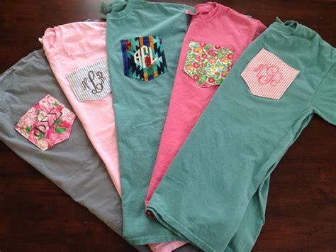 design comfort colors pocket tee monogrammed comfort colors custom pocket tee by