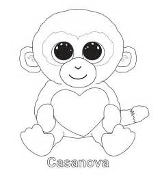 casanova beanie boo coloring pages printable tri color digital