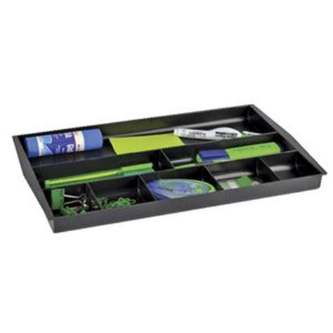 Officeworks Desk Organiser by Italplast Recycled Drawer Tidy Black