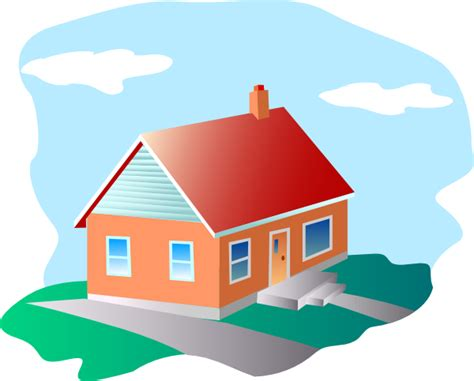 Cartoon House Cartoon House With Blue Sky Clip Art At Clker Com Vector