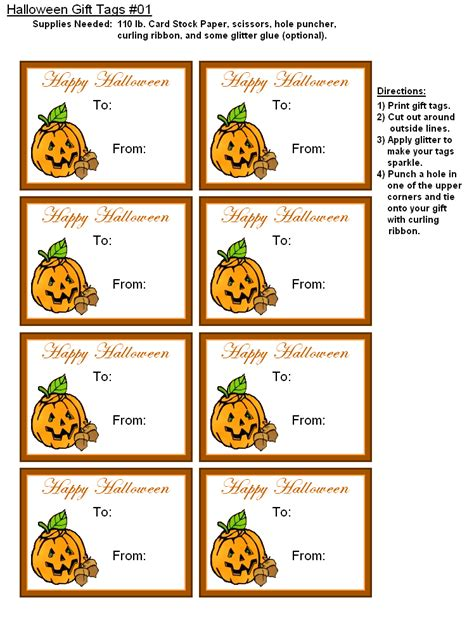 printable halloween tags 9 best images of personalized gift free printable